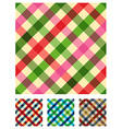 Multicolored tablecloth texture pattern vector image vector image