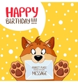 dog message birthday vector image