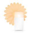 bottle of cream with orange flower on white vector image