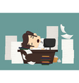 Businessman sleeping vector image vector image