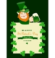St Partick day greeting card vector image