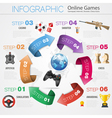 Online Games Infographics vector image vector image