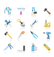 construction work tool icons vector image