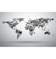 map of business world vector image vector image