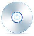 Silver CD vector image