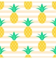 Summer pineapple pattern design Pastel colors vector image