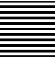 Striped seamless pattern black white thin vector image
