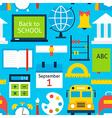 Blue Tile Pattern School Education vector image