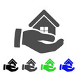 realty offer hand flat icon vector image