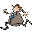 running overweight businessman vector image