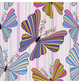 pattern with striped butterflies vector image vector image