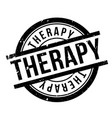 therapy rubber stamp vector image vector image