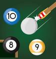 pool billiard hobby play game vector image