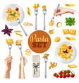pasta realistic set vector image