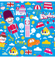 London travel elements vector image