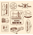 Sewing Emblems Set vector image vector image