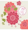flower design4 vector image