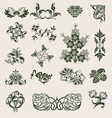 ornament flower style vector image