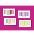 Colorful barcode stickers vector image