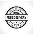 Black stamp with the text free delivery Fast vector image