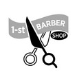 barber shop icon template of scissors vector image