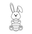 bunny animal egg easter vector image