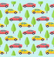 cars and trees seamless pattern design vector image