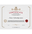 certificate template and background templat vector image