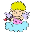 Cute cupid character art vector image