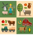 Flat Farm Compositions vector image