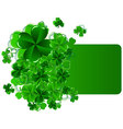 greeting cards st patrick day with shamrock vector image