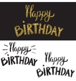 Happy birthday Hand drawn lettering with golden vector image