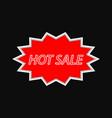 hot sale vintage signboard on a dark background vector image