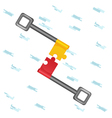 Key Jigsaw Deal Work Cooperate vector image