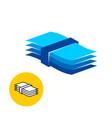 paper pack logo vector image