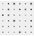 Pattern rounds Monochrome minimal geometric Can vector image