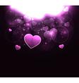 stylish glowing heart background vector image