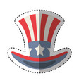 united states of america hat emblem vector image