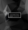 dark geometric polygonal background vector image