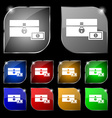 chest icon sign Set of ten colorful buttons with vector image