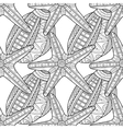 Black white seamless pattern with decorative sea vector image