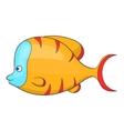 Orange fish icon cartoon style vector image