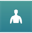 Silhouette man flat icon vector image