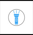 flashlight solid icon mobile sign graphic vector image