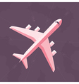 Flat airplane background vector image