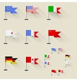 pennants vector image