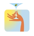 Hand with martini glass vector image vector image