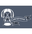 Gas mask logo vector image