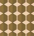 Retro fold green striped hexagons vector image vector image