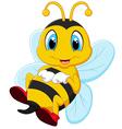 Happy carton bee vector image